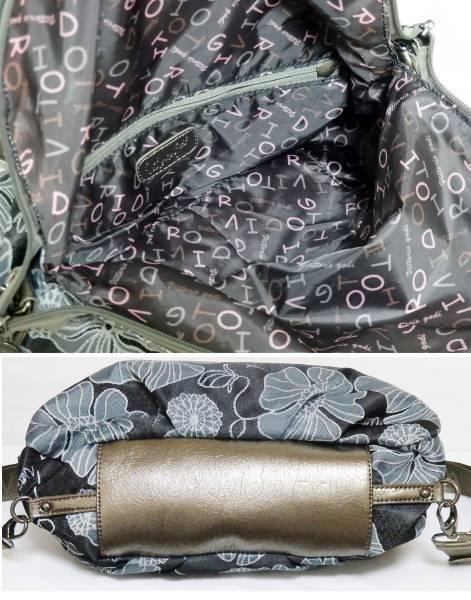 Vittorio Godi 2通り ジャガード織り リュック ハンドバッグ 花柄 黒 ヴィットリオ・ゴーディ レディース 婦人バッグ 2way_画像3