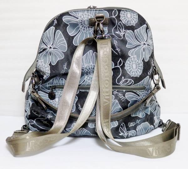 Vittorio Godi 2通り ジャガード織り リュック ハンドバッグ 花柄 黒 ヴィットリオ・ゴーディ レディース 婦人バッグ 2way_画像2