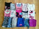 100円■150-160㎝■女の子 夏物セット フリフリ カワイイ 半袖 Tシャツ ミニスカ ショートパンツ