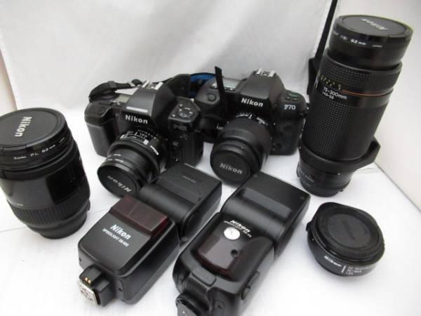 270☆ニコン/Nikon ジャンク扱 AF NIKKOR 75-300mm/28-85mm/SB-28/F70 35-80mm/SB-600/AF TELECONVERTERE TC-16A/F-801 24mm