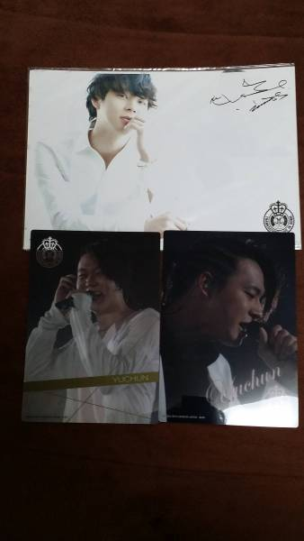 JYJ THANKSGIVING LIVE IN DOME サインフォト&クリアプレート ライブグッズの画像