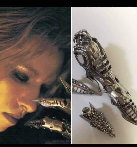 yoshiki着用 h.NAOTO(エイチナオト)フルアーマーリング レア ライブグッズの画像