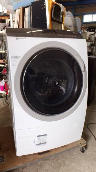 【I64】入念清掃済み♪SHARPシャープ プラズマクラスタードラム式9kg洗濯乾燥機 ES-A200-WL☆左開き