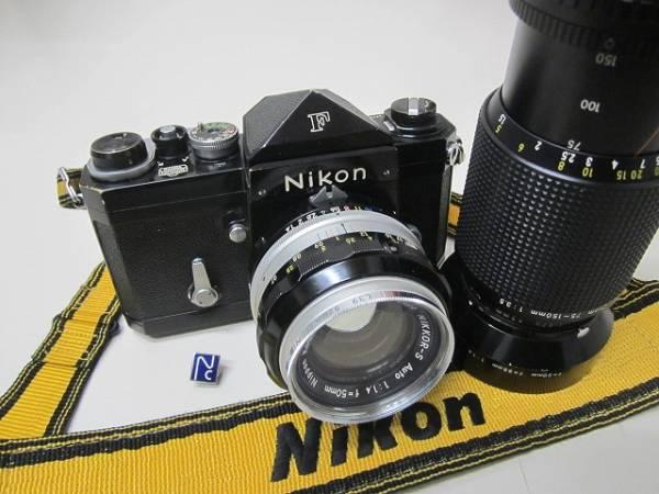 NIKON F ブラック 6712146 50mmF1.4、75mm~150mmズ-ムレンズ 売り切り