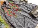 タグ付き未使用♪ザラ ZARA オーバーサイズギンガムチェック刺繍シャツ♪