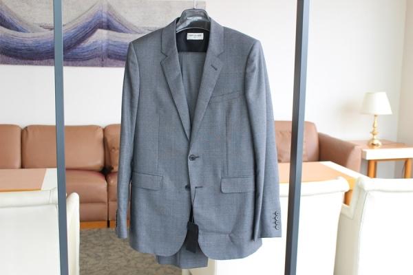SAINT LAURENT PARIS スーツ グレー 48 サンローランパリ 新品 未使用