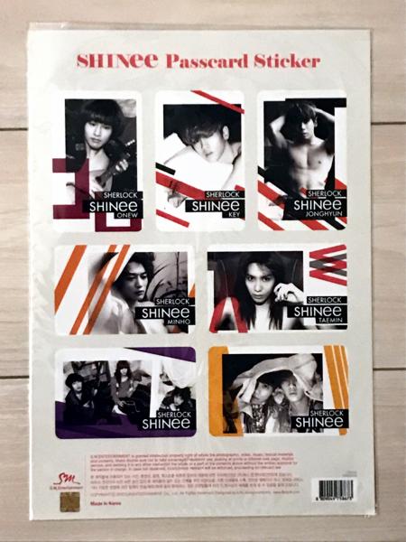 【未使用】SHINee 公式 Sherlock パスカードステッカー ICカードステッカー シール