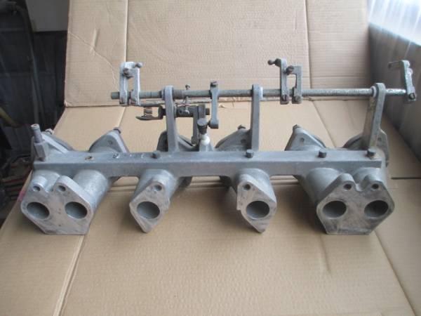 日産 L6 L28 ソレックス ウェーバー用 インマニ サンヨー製 初期型用 当時物 絶版 30Z ケンメリ ハコスカ ブタケツ