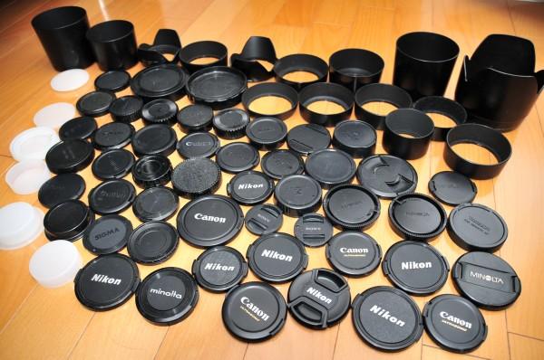 【大量】 カメラ レンズ キャップ フード まとめ Nikon Canon SONY MINOLTA 他 全70点以上 ★送料無料★