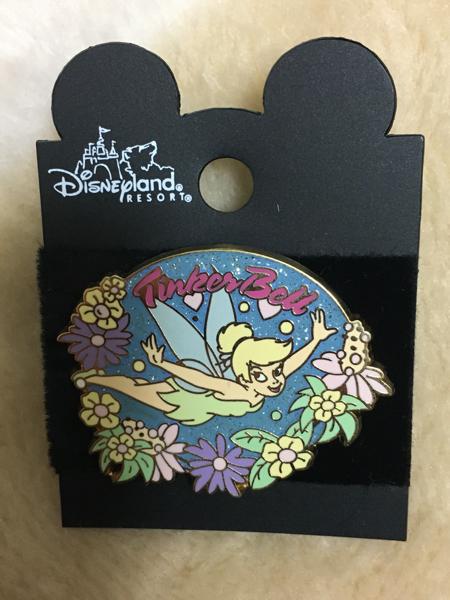 海外ディズニーランド限定 ピーターパン TINKER BELL Flower ピンバッジ ディズニーグッズの画像