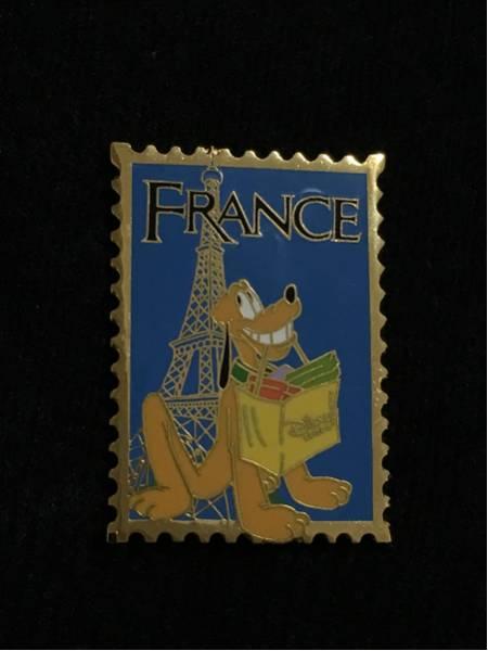 ディズニーストア限定 切手シリーズ プルート ピンバッジ ディズニーグッズの画像