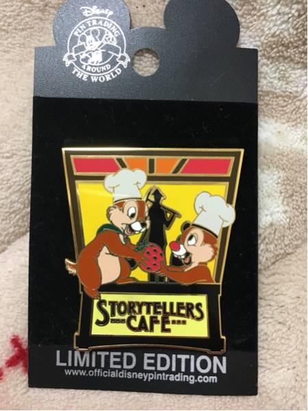 海外ディズニーランド限定 CAFE チップ&デール ピンバッジ ディズニーグッズの画像