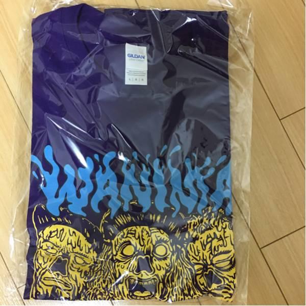 PIZZAOFDEATH WANIMA  ken yokoyama Tシャツ 文字ブルー ライブグッズの画像