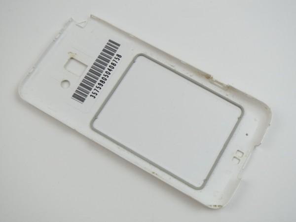 送料0円 リアカバー 純正品 F-09E ホワイト( 裏蓋 リヤカバー 電池カバー)  管理R29_画像2