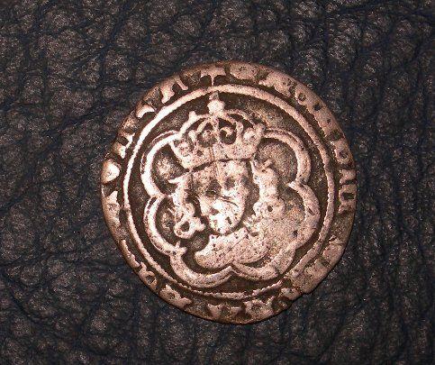 英国  ハンマード銀貨 ヘンリー4種 ヘンリー7世 ハーフゴート_画像2