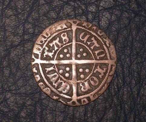 英国  ハンマード銀貨 ヘンリー4種 ヘンリー7世 ハーフゴート_画像1
