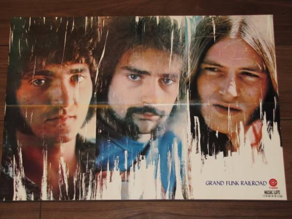未使用★ポスター グランドファンクレイルロード/1972年★866