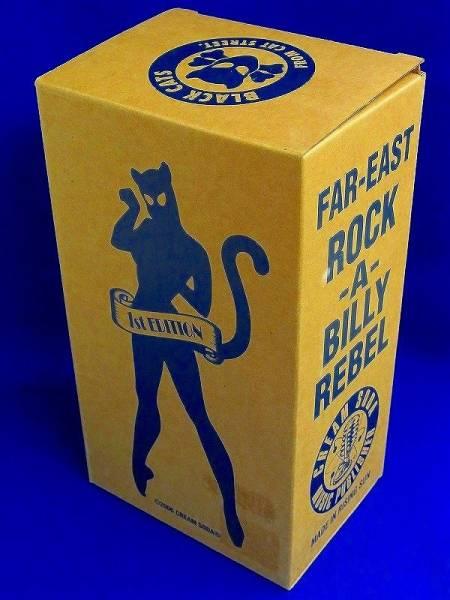 【 フィギュア 】ブラックキャッツ BLACK CATS 銀 シルバー 限定500体 シリアルナンバー付き ロカビリー 伝説のバンド クリームソーダ