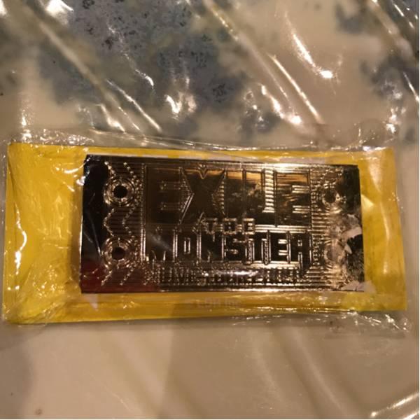 エグザイル ライブツアー2009 ザ モンスター フリスクケース 未使用 レア!ゴールド 綺麗な金 ライブグッズの画像