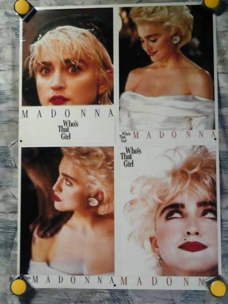 f1【ポスター/B-2】マドンナ/Madonna/'87-フーズ・ザット・ガール-ライヴ・イン・ジャパン時/販促用非売品ポスター