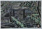 井堂 雅夫 「寂光院」 木版画 額なし