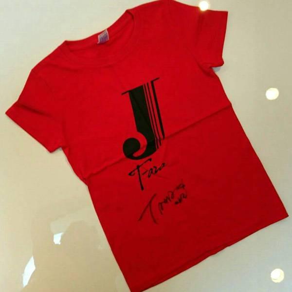 生写真付◯KPOP T-ARA ジヨンサイン有・無 Tシャツ赤色2枚セット ライブグッズの画像