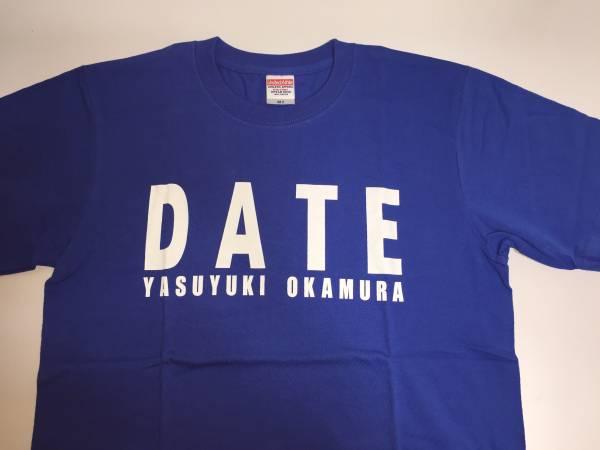 【レア+新品!】岡村靖幸『DATE Tシャツ ブルー(Mサイズ)』グッズ