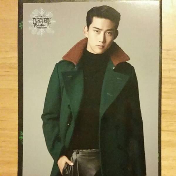 テギョン トレカ winter一人 緑コート 2PM トレーディングカード ソロコン カード