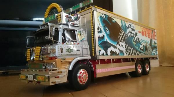 タミヤ 1/14 トラック RC 一番星 望郷一番星 電飾リレー機能付き フルセット ワンオフ製作車両_画像2