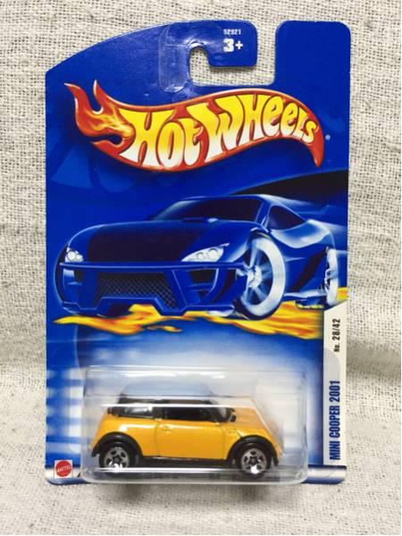 即決有★HW hotwheels MINI ミニクーパー 2001 黄 ホットウィール_画像1