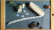 Ribbon - ゜○アンティーク レース○゜フランス製ビンテージ装飾ブロカント飾りシャビー装飾ハンドメイド雑貨ディスプレイ手作りリボン手芸 裁縫美品