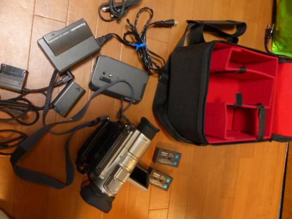 希少 ミニDV 3CCD NV-DJ100 一式  バッテリー2本  キャノンカメラバッグ付  ジャンク
