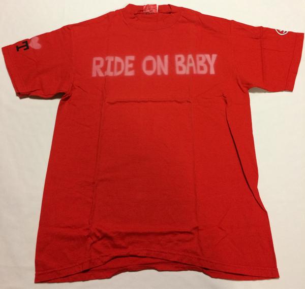 奥田民生 ツアーグッズ RIDE ON BABY Tシャツ 赤 Mサイズ 未使用 ユニコーンUNICORNABEDONRCM ライブグッズの画像