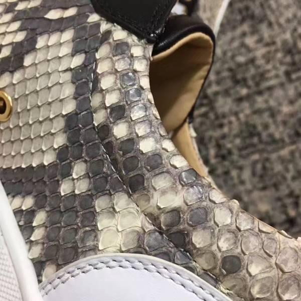 セール新品 高品質保証 メンズシューズローカット ヘビ柄ミックス色 本革 28cm_画像3