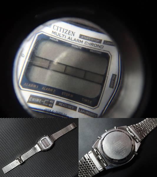□■CITIZEN MULTI ALARM CHRONO □■シチズン デジタル マルチ アラーム クロノ メンズ 腕時計 4-098242 TA 41-1051 ジャンク_画像3