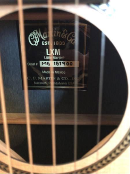 Luttle Martin LXM リトルマーチンLXM ミニギター