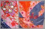 ★☆C0417★子供着物5.6歳用☆七五三☆ピンク紺系☆金粉散らし☆長襦袢付き☆豪華☆★