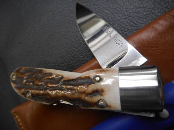 ナイフ 折り畳み マトリッス アイダ 相田 MATRIX AIDA 素晴らしいスタッグハンドルです。_画像3
