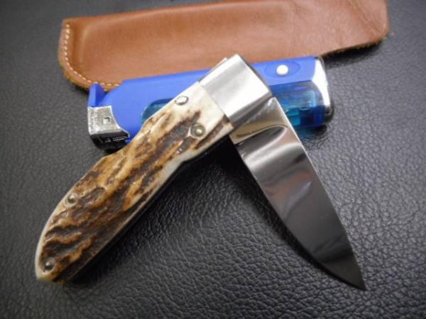 ナイフ 折り畳み マトリッス アイダ 相田 MATRIX AIDA 素晴らしいスタッグハンドルです。_画像2