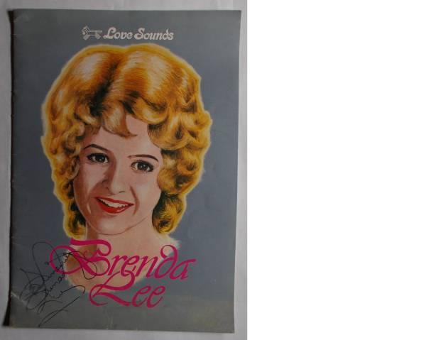 直筆サイン入コンサート・パンフレット ブレンダ・リー 1975年