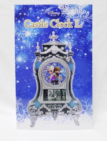 ディズニー キャッスルクロック ◆アナと雪の女王◆ 置時計 未開封 ディズニーグッズの画像