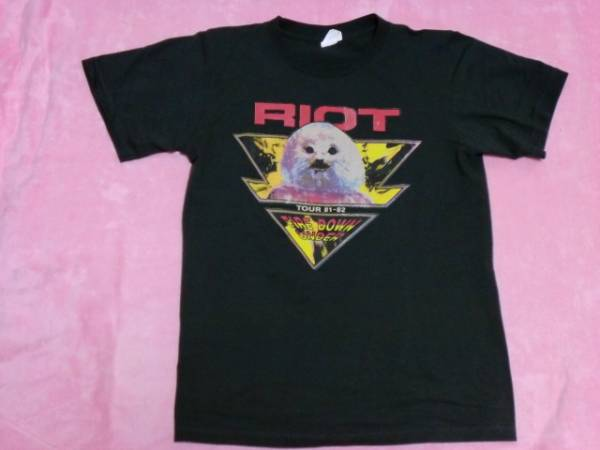 RIOT ライオット 古着 Tシャツ S/M バンドT ロックT ツアーT Y&T Rods Fire Down Under