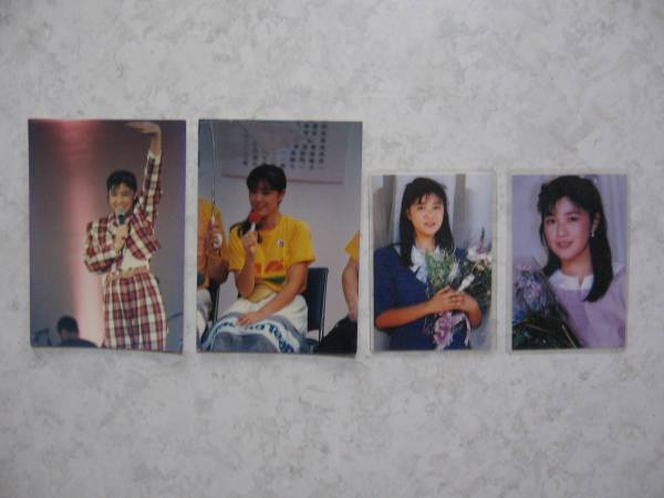 【生写真&カード】●送料無料●菊池桃子/4枚