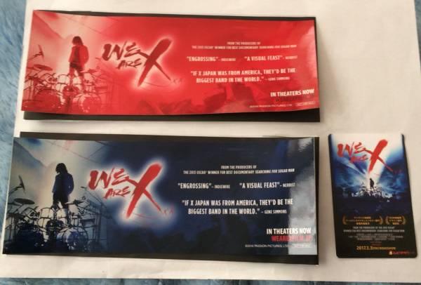 ★映画「WE ARE X 」第1弾特典ステッカー2枚&使用済みムビチケセット!X JAPANエックスYOSHIKIヨシキ