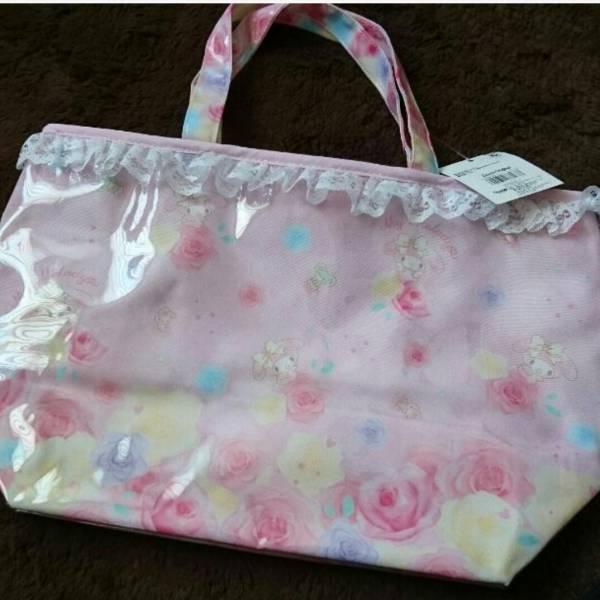 マイメロディ サンリオ トートバッグ プールバッグ リズリサ ピンク グッズの画像
