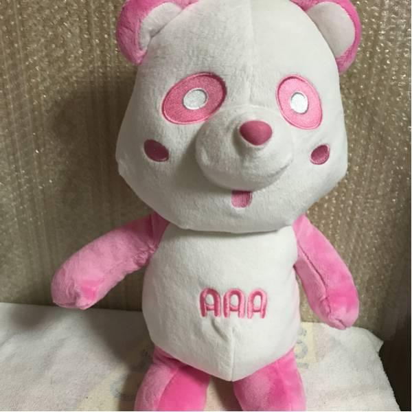 AAA 約45cm 抱き枕 え~パンダ スペシャルBIGぬいぐるみ 非売品 新品 グッズ ピンク ライブグッズの画像