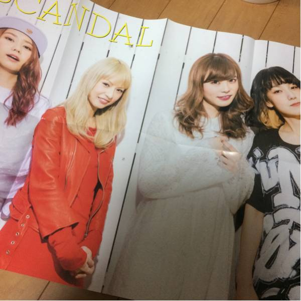 ★SCANDAL 特大両面ポスター GiGS 非売品