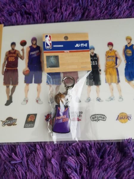黒子のバスケ×NBA ユニフォーム型キーリング 紫原敦 グッズの画像