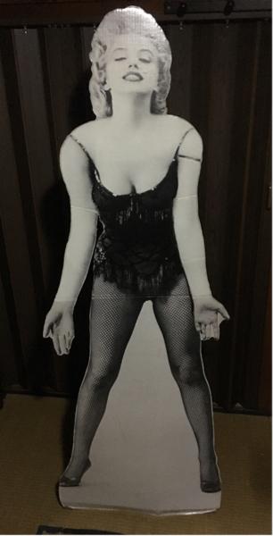 レアアンティークマリリンモンロー等身大自立パネルポスター グッズの画像