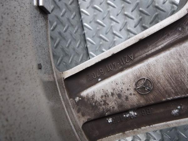ベンツ純正 W211 Eクラス AMG スタイリング 3 Ⅲ 18インチ 9J +39 5穴 PCD112 リア 2本_画像10